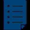 An icon of a checklist