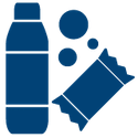 Icon of drinks and snacks