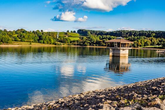 Carsington Water reservoir landscape