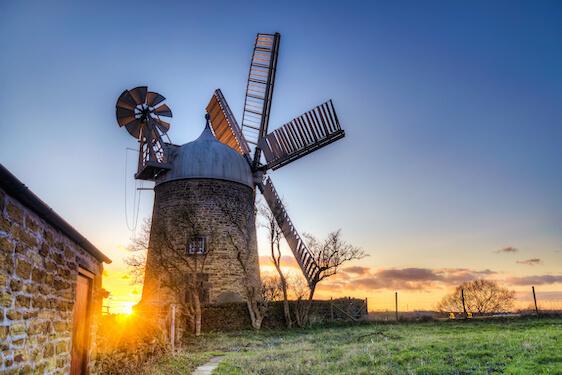 Heage Windmill landscape